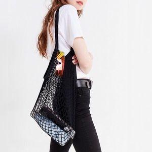 Handbags - Parisienne Cotton Market Open Net Tote Bag